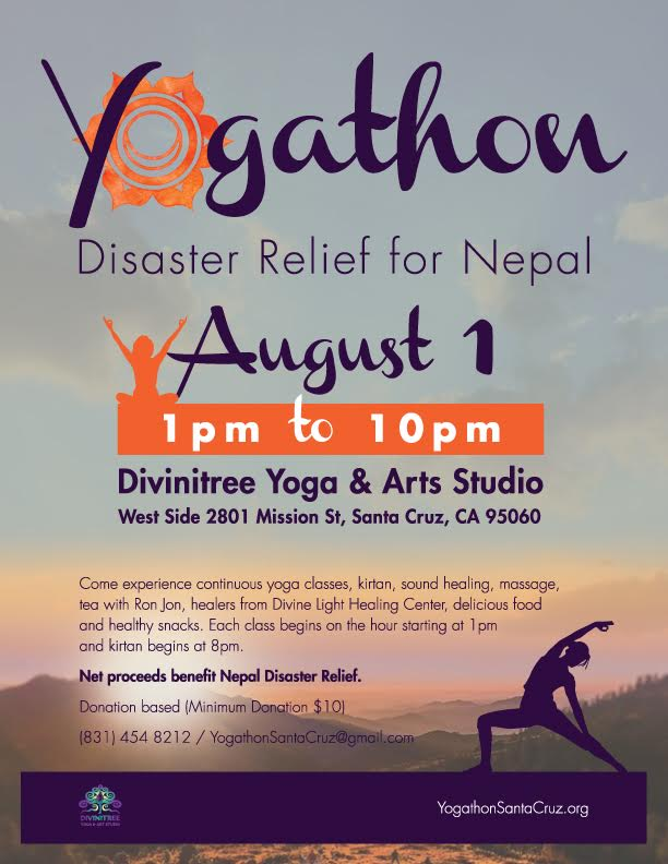 Tickets For YOGATHON FOR NEPAL DISASTER RELIEF In Santa Cruz From