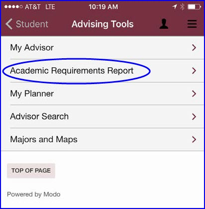Access Your Academic Requirements Report myFSU Student Central