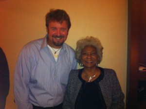 ADM David G. Nottage III (USS Golden Gate) and Unbelievable!!! actor Nichelle Nichols at the ArchAngel party at the Westin St. Francis Hotel in San Francisco, California (Photo: ADM David G. Nottage III / USS Golden Gate)