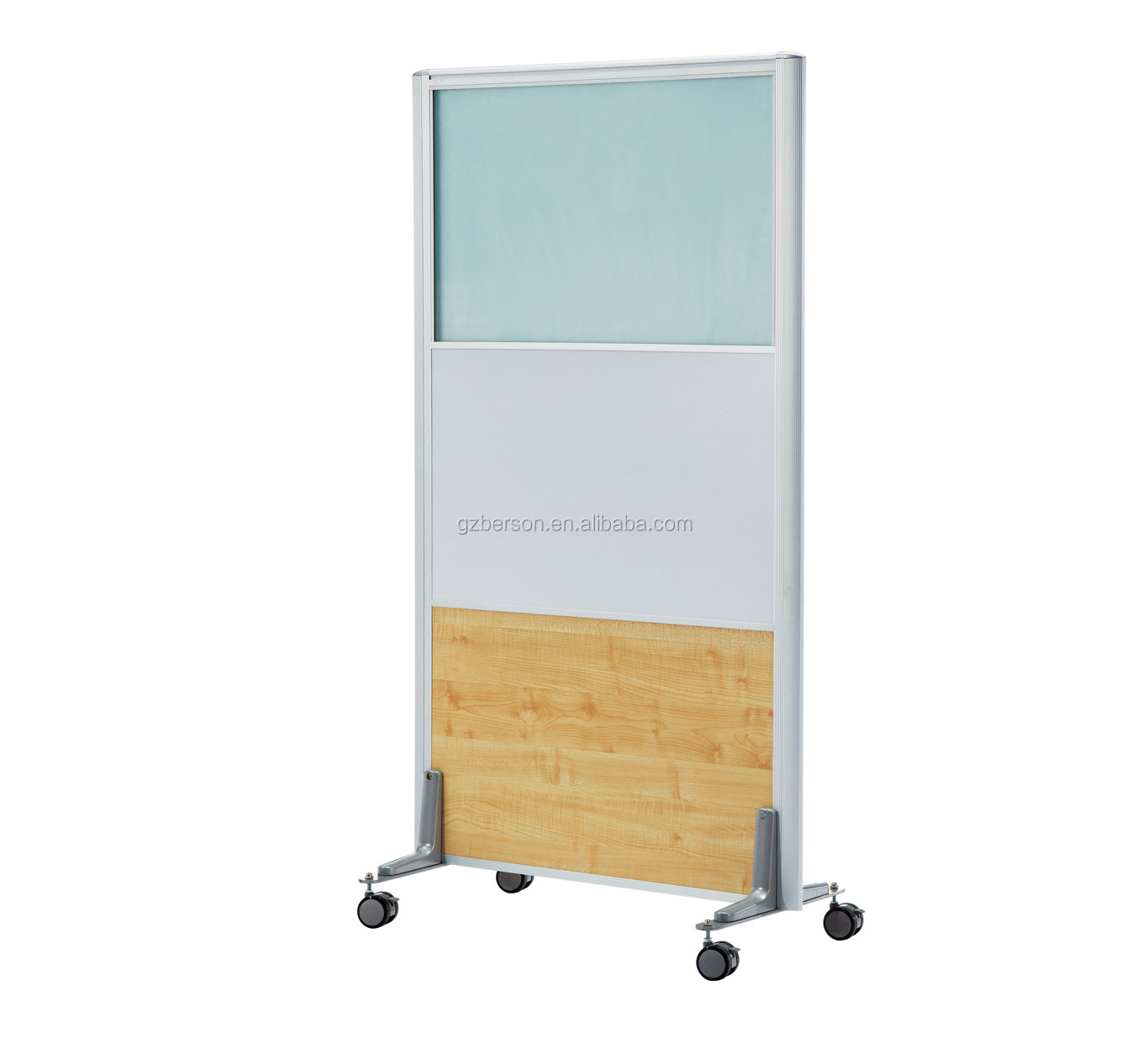 Movable Wooden Partition Privacy Desk Mobile Office Partition Office Partition With
