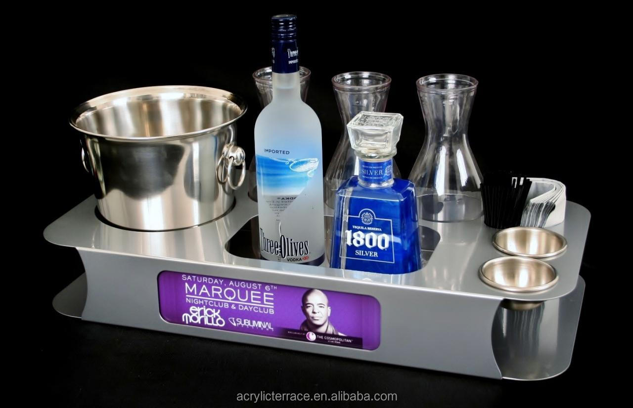 Ha14030104005 Acrylic Bottle Service Tray Acrylic Hotel