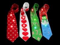 Wholesale Led Christmas Necktie Flashing Snowman Necktie ...