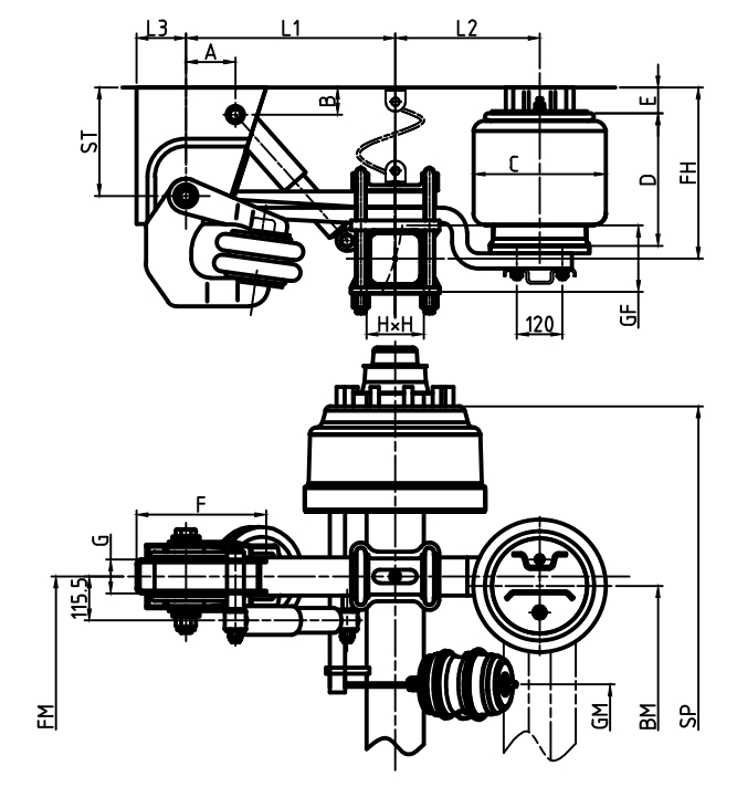 Tractor Trailer Air Suspension Diagram For Parts Wiring Schematic