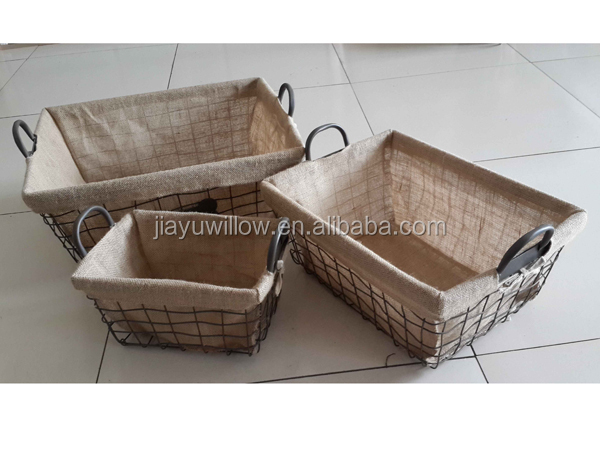Wire Basket Liners Restoration Hardware Inspired