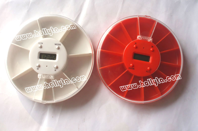 Plastic Pill Box With Digital Timer And Alarm Reminder
