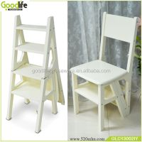 Wooden Goodlife Convertible Ladder Chair Library Step ...