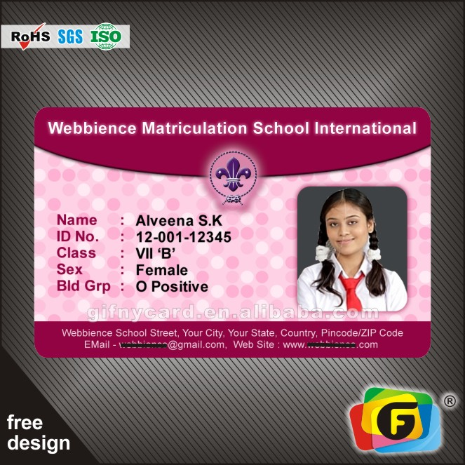 Personnel Plastic Photo Id Card Printing - Buy College Student Id