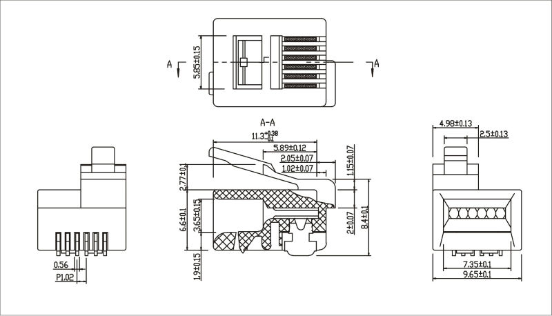 cat 3 jack wiring diagram rj11 6p6c