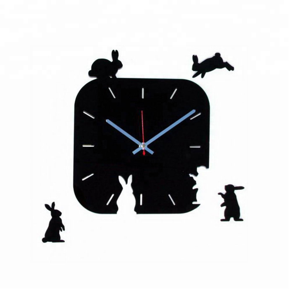 Special Clock 12 Black Acrylic Cute Animal Design Wall Decor Clock Special Wall Clocks For Best Kids Birthday Gifts Buy 12 Black Acrylic Cute Animal Design