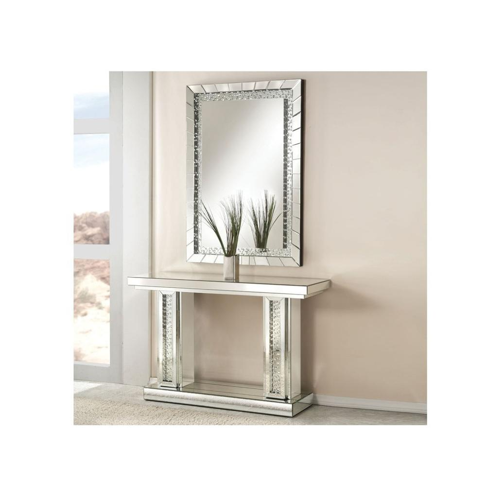 Decorative Mirror Table Luxury Crystal 11 Shape Mirrored Console Table Set And Rectangle Crystal Wall Decorative Mirror Buy Stylish Mirror Home Furniture China Supplier