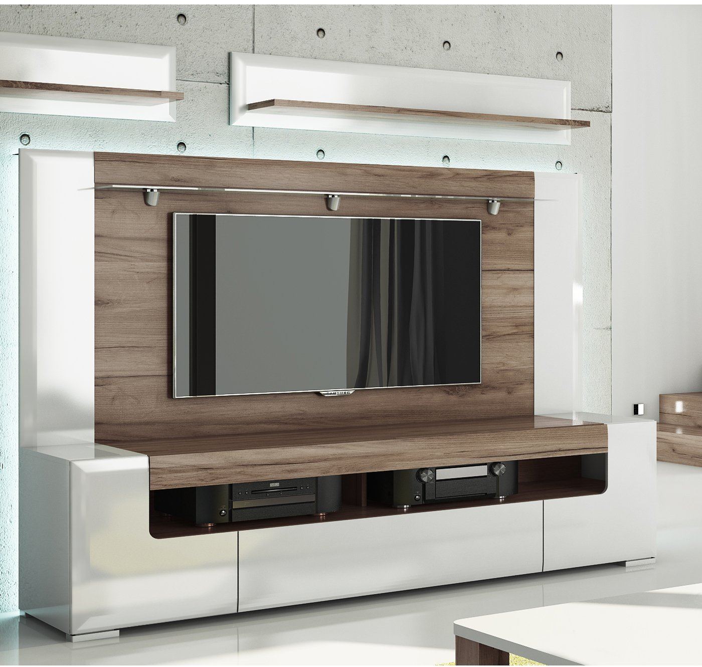 Large Wall Units For Living Room Buy Toronto Tv Cabinet With Wall Panel Large Living Room