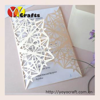 Hand Made Invitation Card Design,Laser Cut Kids Birthday Invitation
