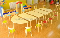 New Design Plywood Material Kindergarten Table And Chairs ...