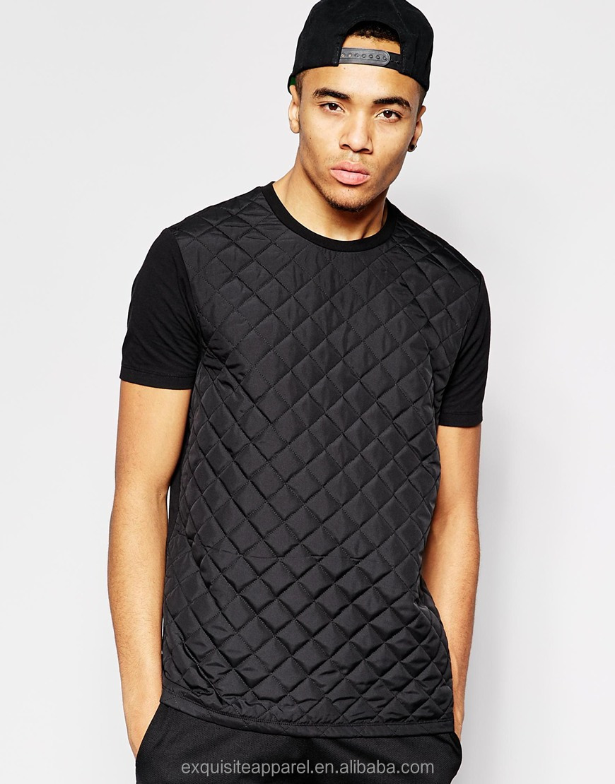 2015 grid quilted t shirt for men t shirt in black color t shirt hot sale short sleeves fashion t shirt buy black t shirt t shirt in black color quilted t