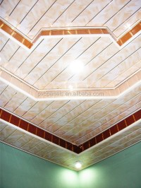 Modern Design Pvc Ceiling Tiles Interior Decorative Wall ...