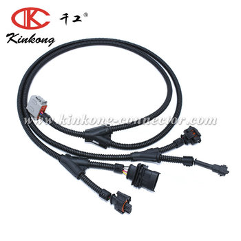 Automotive Wiring Harness With 6 Pin Deutsch Connector And Boschs