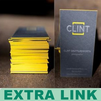 High Quality Edge Gilding Thick Business Cards/Cheap Embossing