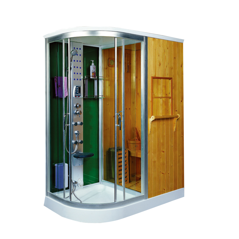 Duschwand Glas Laser Indoor With Overhead Shower Sliding Door Steam Sauna Dusche Combination