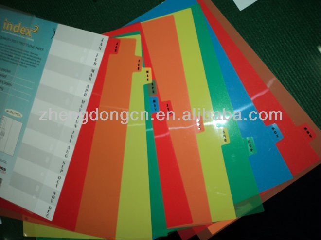 A-z A4 Paper Tab Dividers With Color Index Tab Machine - Buy Folder - folder dividers tabs