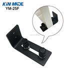 Adjustable Channel Wall Mount Floor U-Roller Guide for Barn Door Hardware, Powder Coated Black
