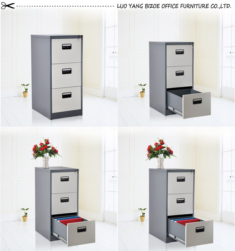 2016 Office Metal Office Colorful 3 Tier 3 Drawers Filing