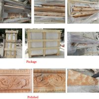 Free Standing Yellow Marble Fireplace,Marble Fireplace ...