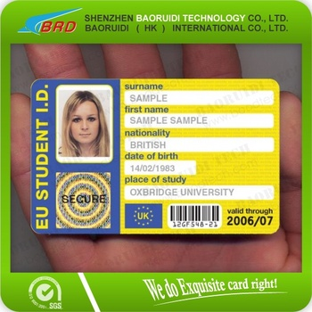 Employee/student Id Card With Customized Printing - Buy School Id