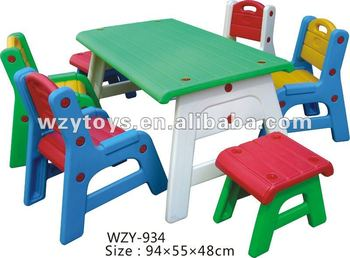 Kids Plastic High Quality School Study Chairs And Table