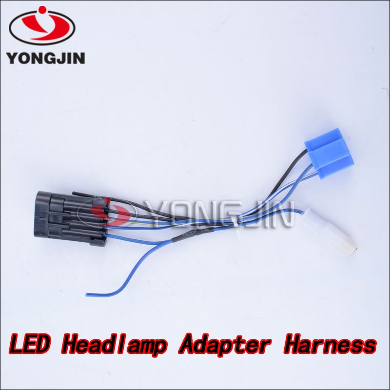 Motorcycle Led Headlamp Headlight Wiring Harness For Harley 14-later