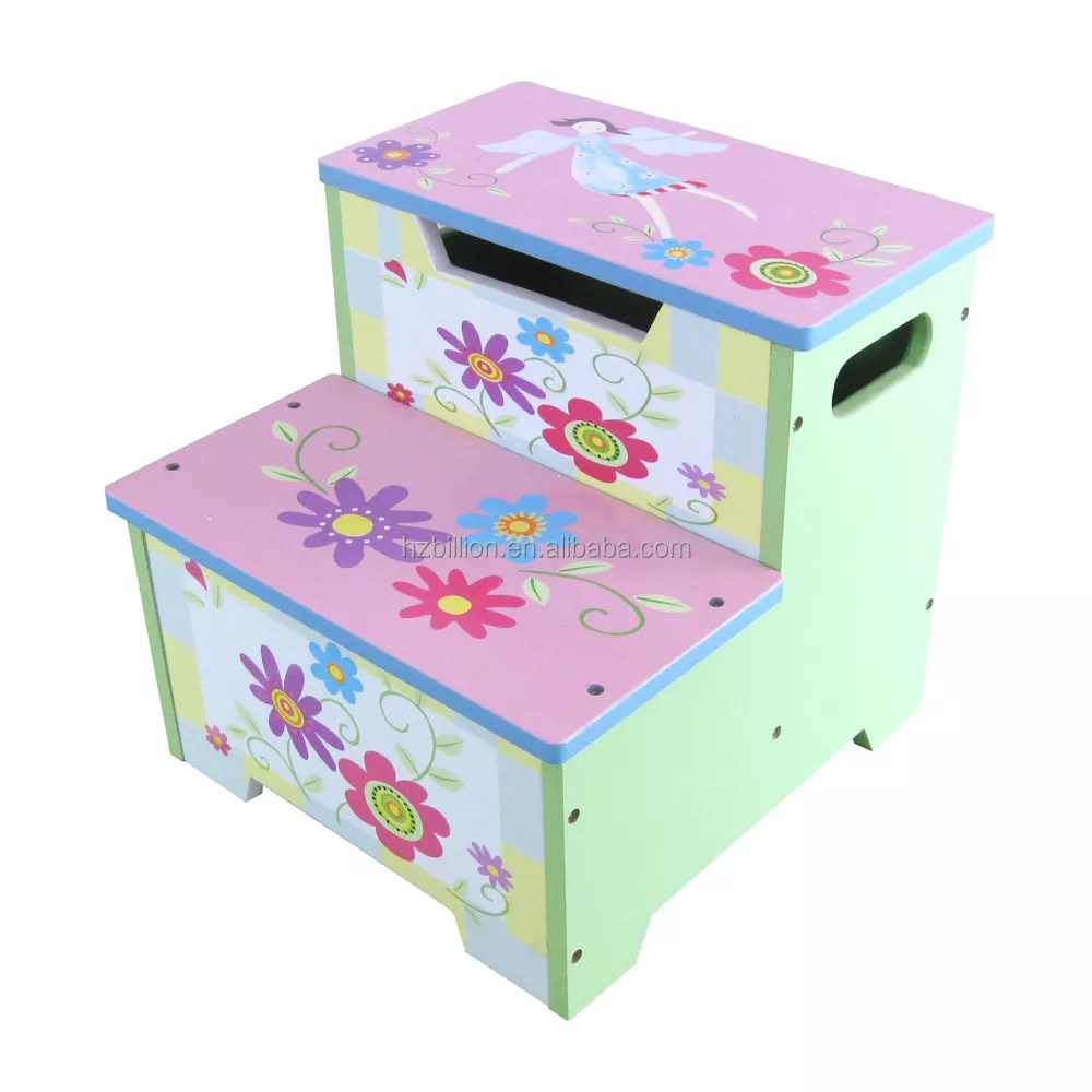 Kids Furniture Cute Kids Wooden Toddler Step Stool With Storage Wooden Kids Furniture Buy Collapsible Kids Wooden Step Stool With Storage Kids Furniture Portable