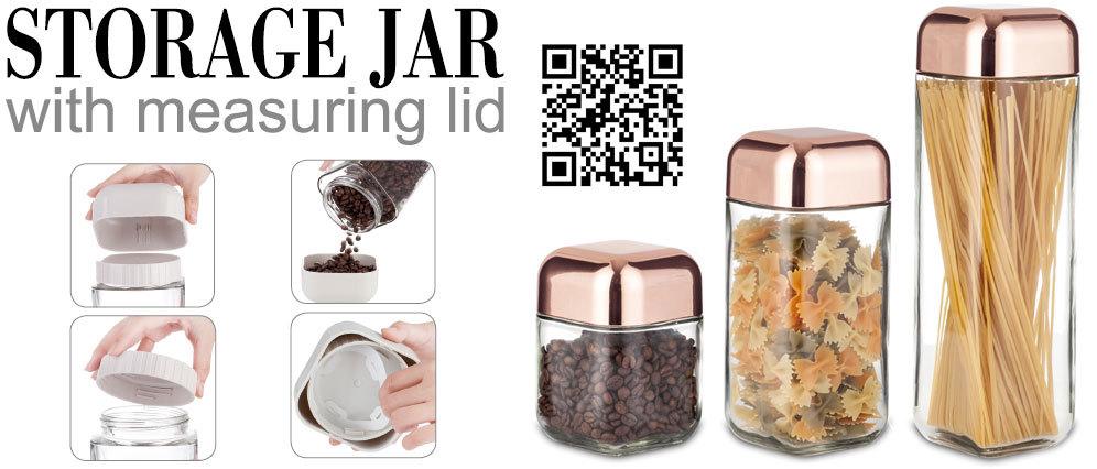 Sinoglass Trade Assurance With Adjustable Airtight Lid Borosilicate Glass Pasta Storage Jar