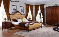 W6801 European Style Solid Wood Italian Leather Luxury ...