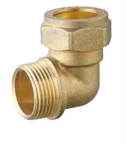 T1167 Brass Compression Solder Fittings For Copper Pipes