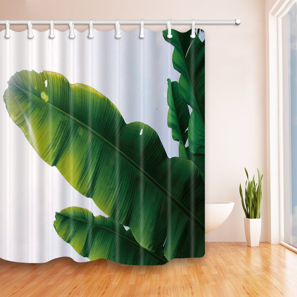 Banana Leaf Shower Curtain Cheap Tropical Bath Decor Find Tropical Bath Decor Deals On Line