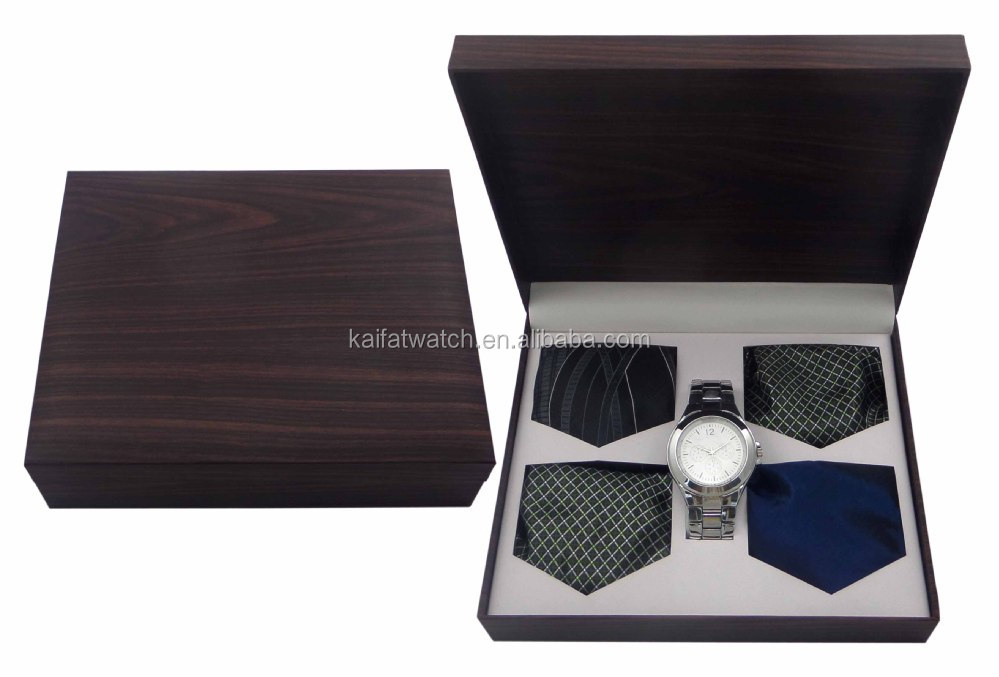 Fashion Business Men39s Gift Watch And Tie Set With