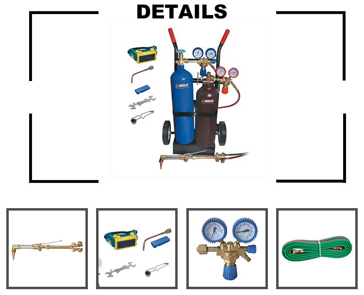 Portable Gas Welding Kit With Oxygen/acetylene Cylinders Uw-1518