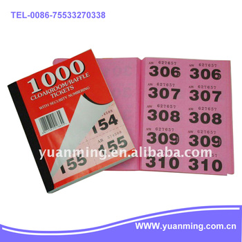 Raffle Ticket Book - Buy Raffle Ticket,Raffle Ticket Printing,Chinese