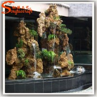 China Water Fountain Factory Indoor Artificial Waterfall ...