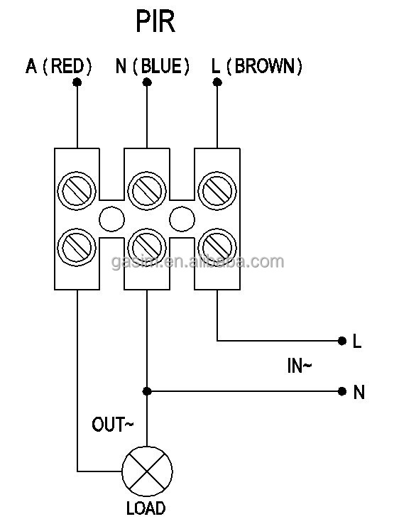wire diagram for time switch