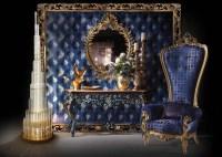 Bisini Luxury Blue High Back Chair,Elegant Royal Chair ...