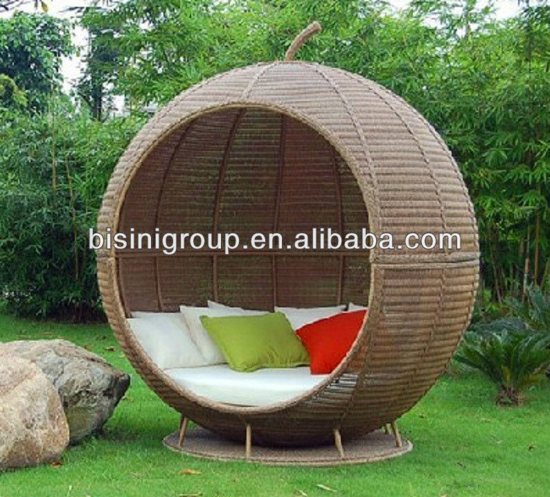 Rattan Outdoor Round Wicker Rattan Outdoor Daybed (bf10-r107) - Buy ...