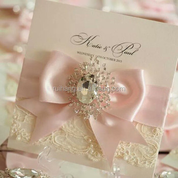Ivory Vintage Style Lace Wedding Invitation With Box - Buy Lace