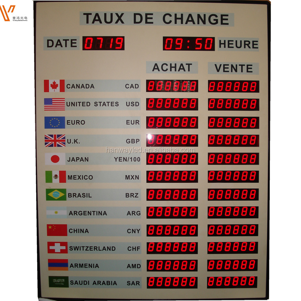Achat Led Bank Rate Digital Display With Software System Led Currency Exchange Rate Interest Rate Display Board Buy Exchange Rate Hk Us Dollar Exchange
