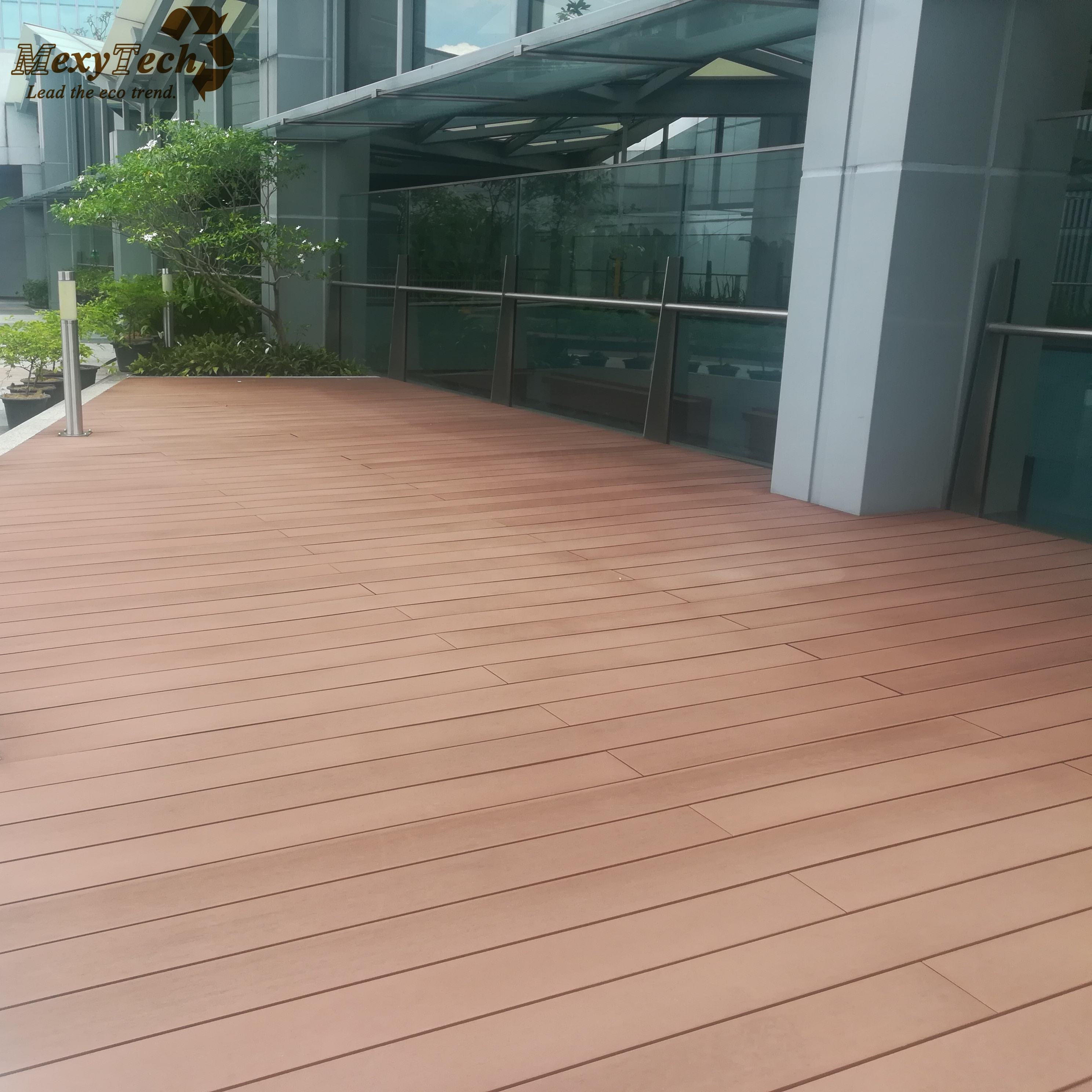 Teak Wandplank Outdoor Garden Waterproof Wpc Composite Wood Decking Plank