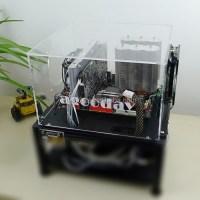 Pc-d009mq Personality Pc Acrylic Diy Computer Case Black ...