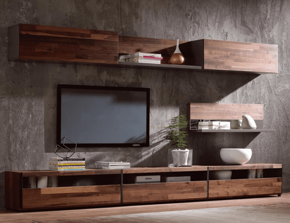 Tv Sideboard Modern Modern Simple Tv Stand,walnut Wood Veneer Tv Cabinet - Buy ...