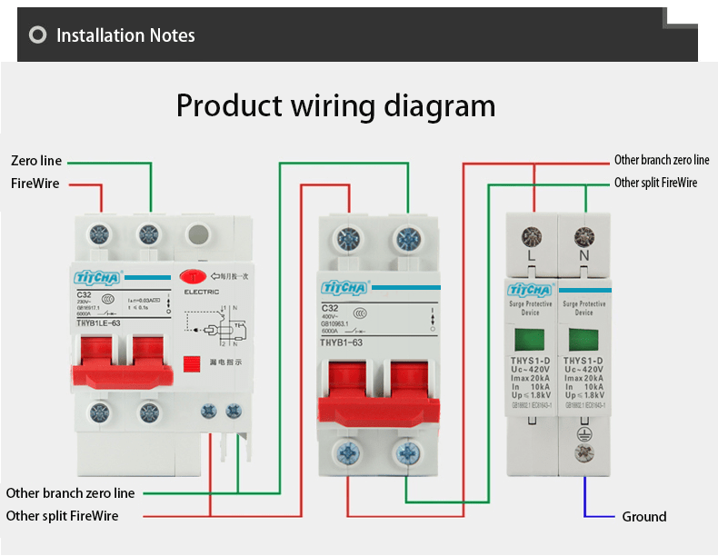 surge protection device wiring diagram