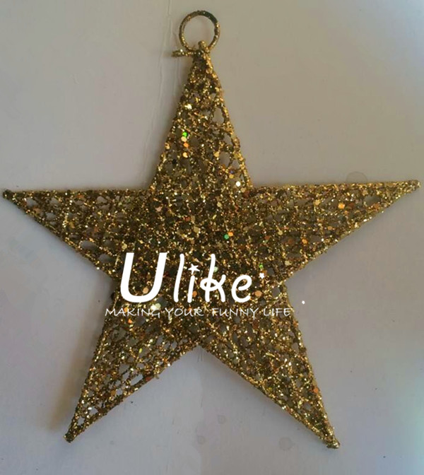 glitter star decorations metal lighted star christmas star shape - christmas star decorations