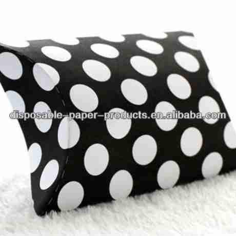 Source Black Polka Dot Spots Pillow Boxes WEDDING Favour Gift Box Black & White POLKA DOT Pillow JEWELLERY Gift BOX Case