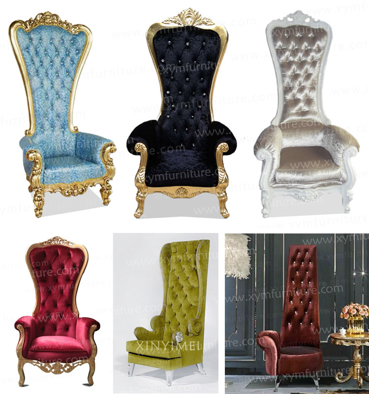 Romantic King Queen Wedding Chairs Sale Xym